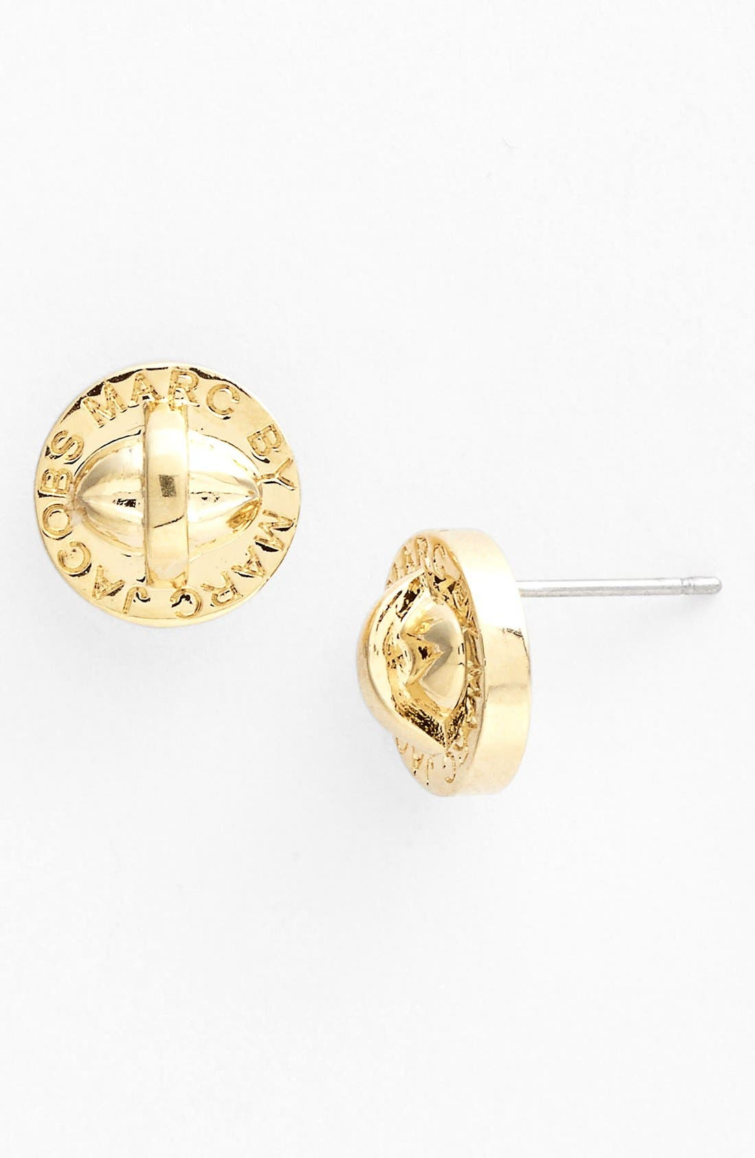 Main Image - MARC BY MARC JACOBS 'Turnlock' Large Stud Earrings (Nordstrom Exclusive)