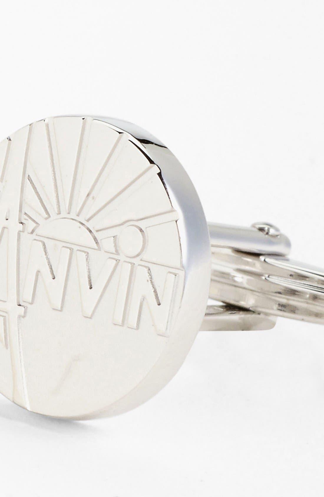 Alternate Image 2  - Lanvin Circular Logo Cuff Links