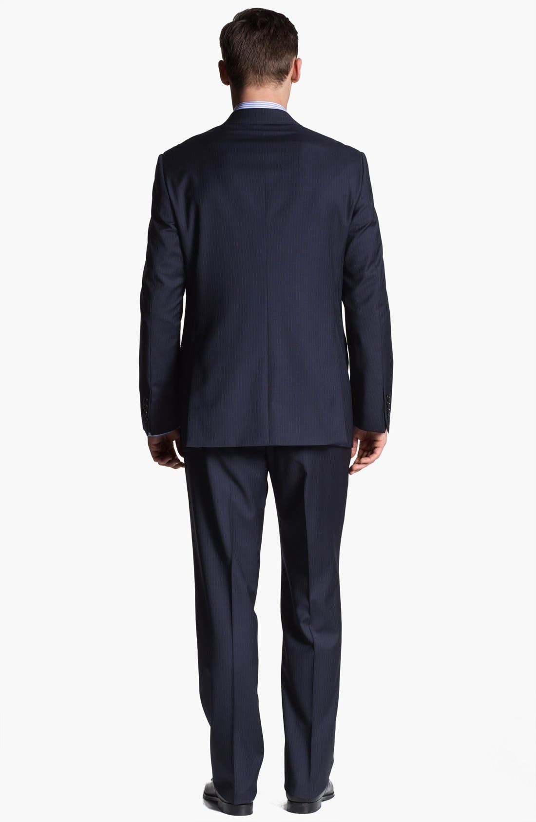 Alternate Image 3  - Armani Collezioni 'Giorgio' Chalk Stripe Wool Suit