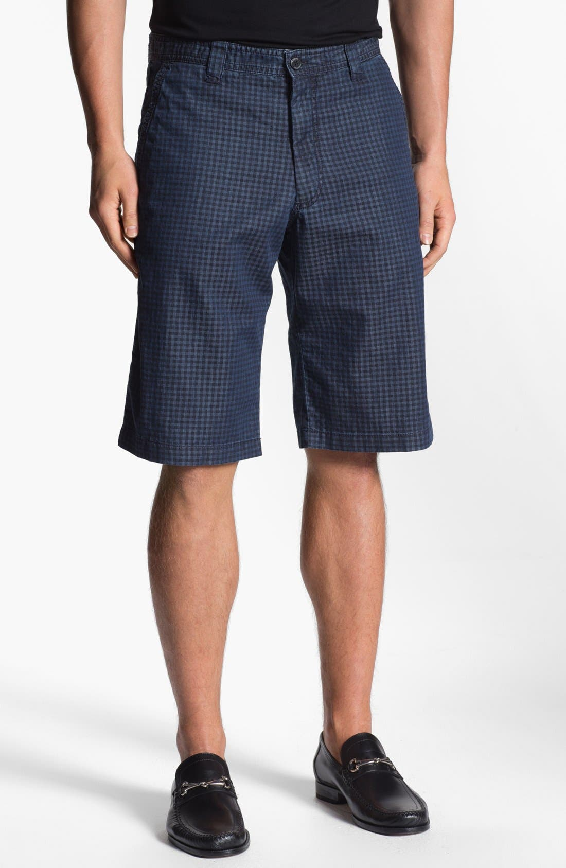 Main Image - Armani Collezioni Check Bermuda Shorts