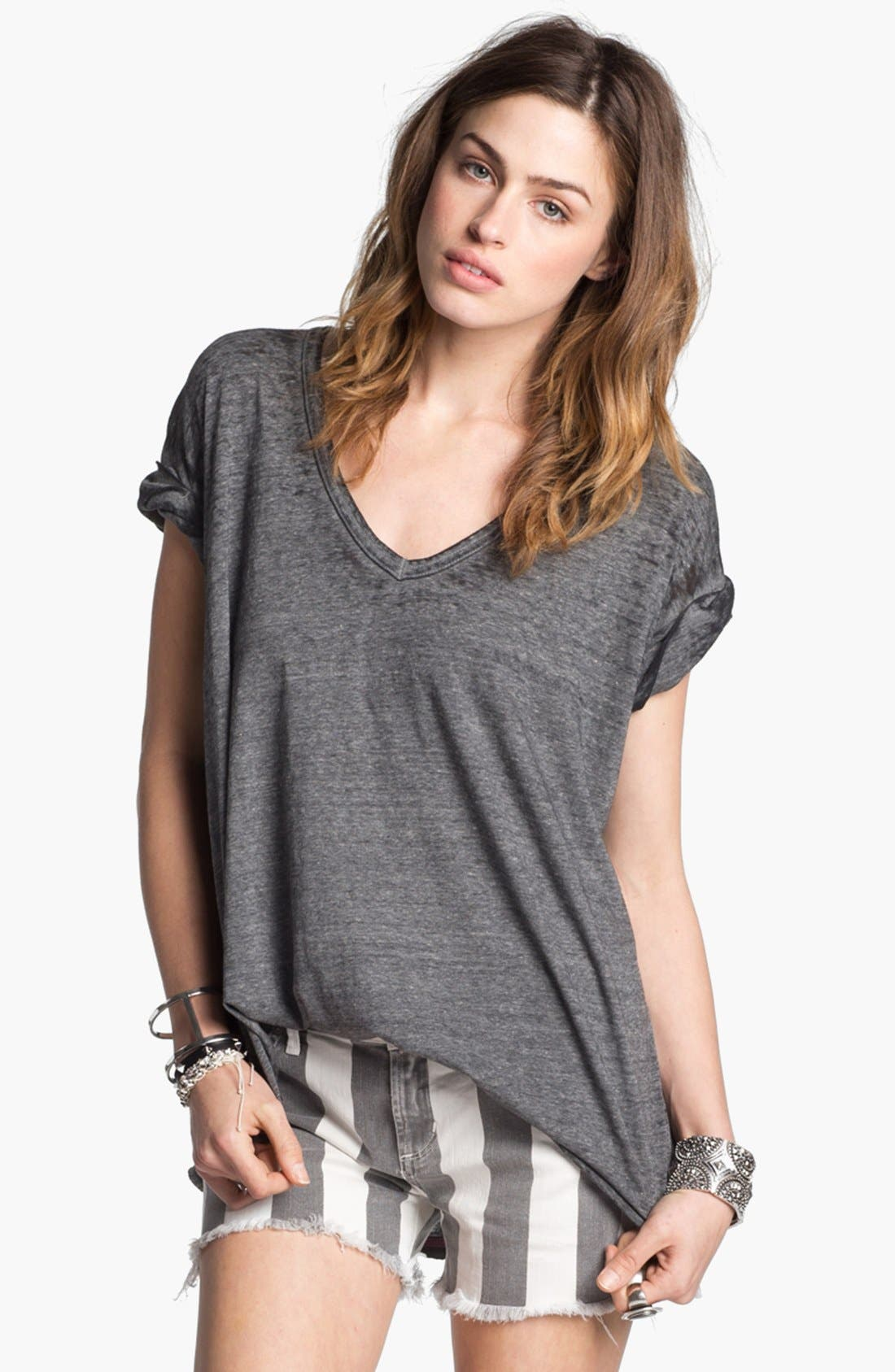 Alternate Image 1 Selected - Free People 'Keep Me' V-Neck  Burnout Tee