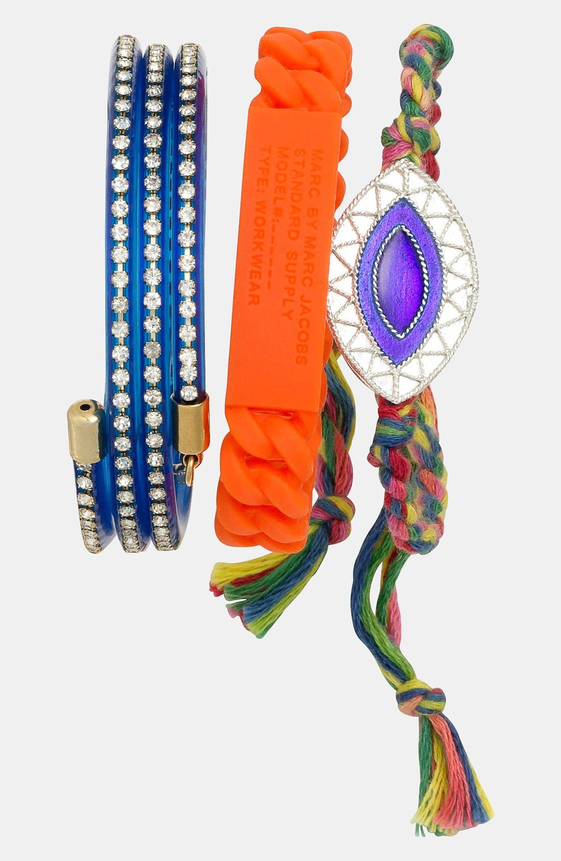 Alternate Image 2  - Carbon Copy Jewelry 'Evil Eye' Braided Bracelet