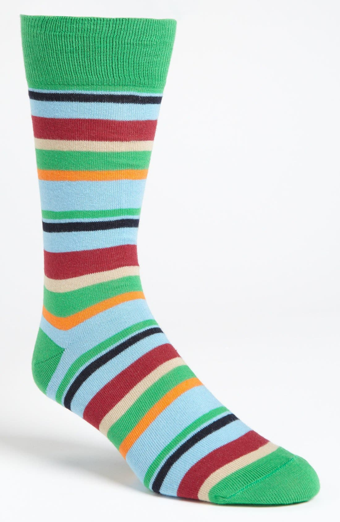 Alternate Image 1 Selected - Lorenzo Uomo Multistripe Socks