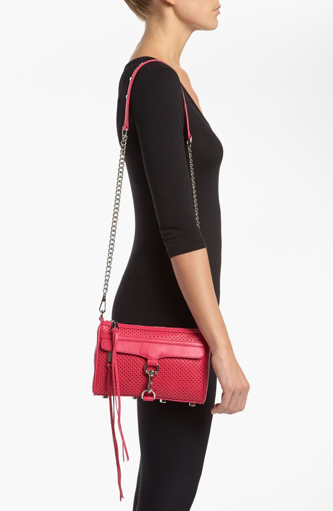 Alternate Image 2  - Rebecca Minkoff 'Mini MAC' Perforated Leather Clutch