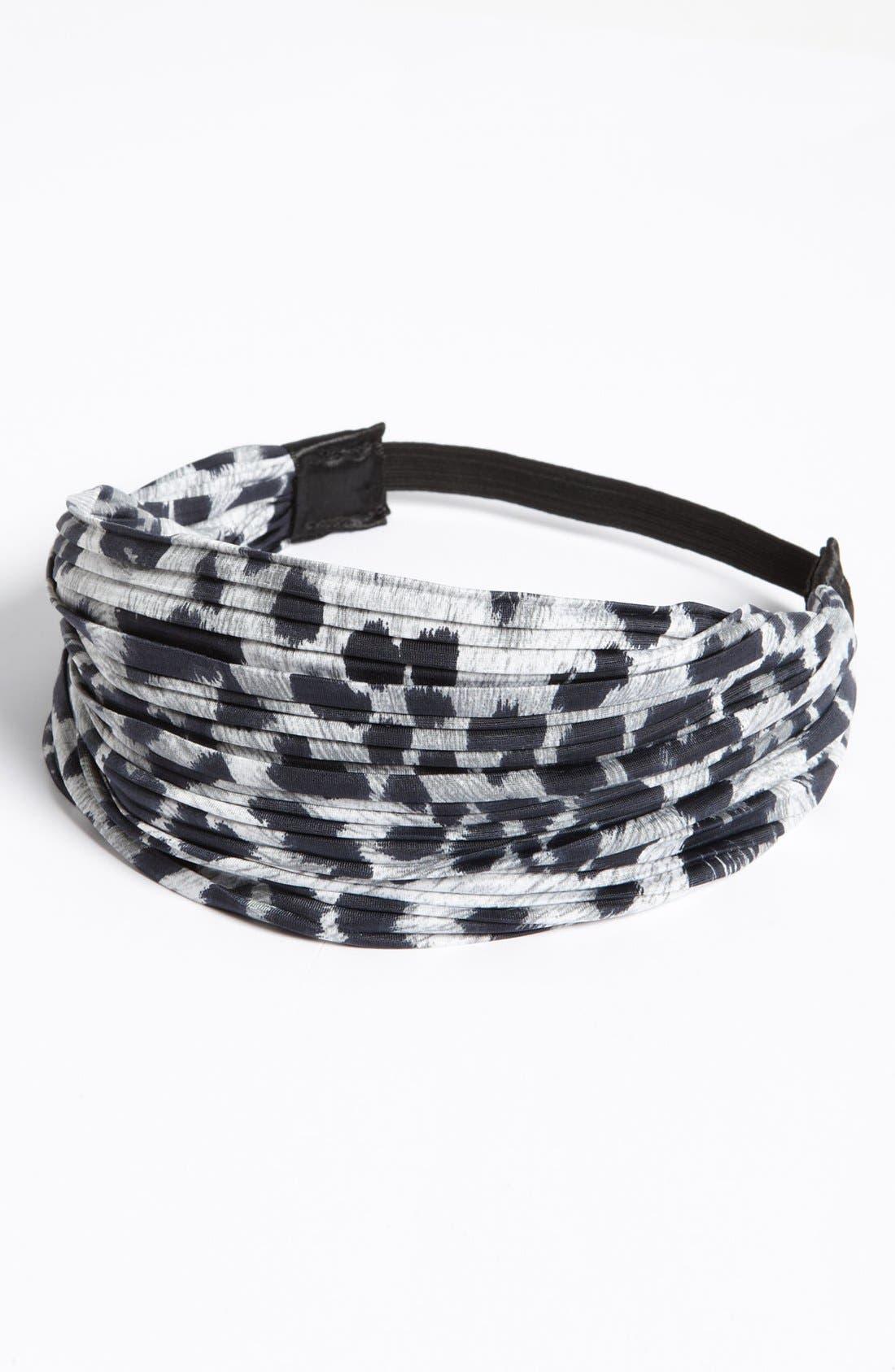 Alternate Image 3  - Cara Pleated Leopard Print Head Wrap