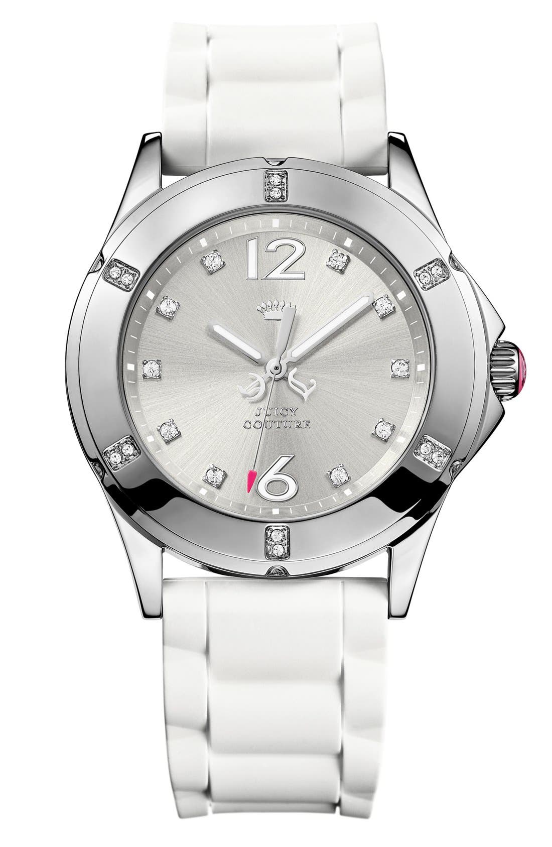 Alternate Image 1 Selected - Juicy Couture 'Rich Girl' Crystal Dial Watch