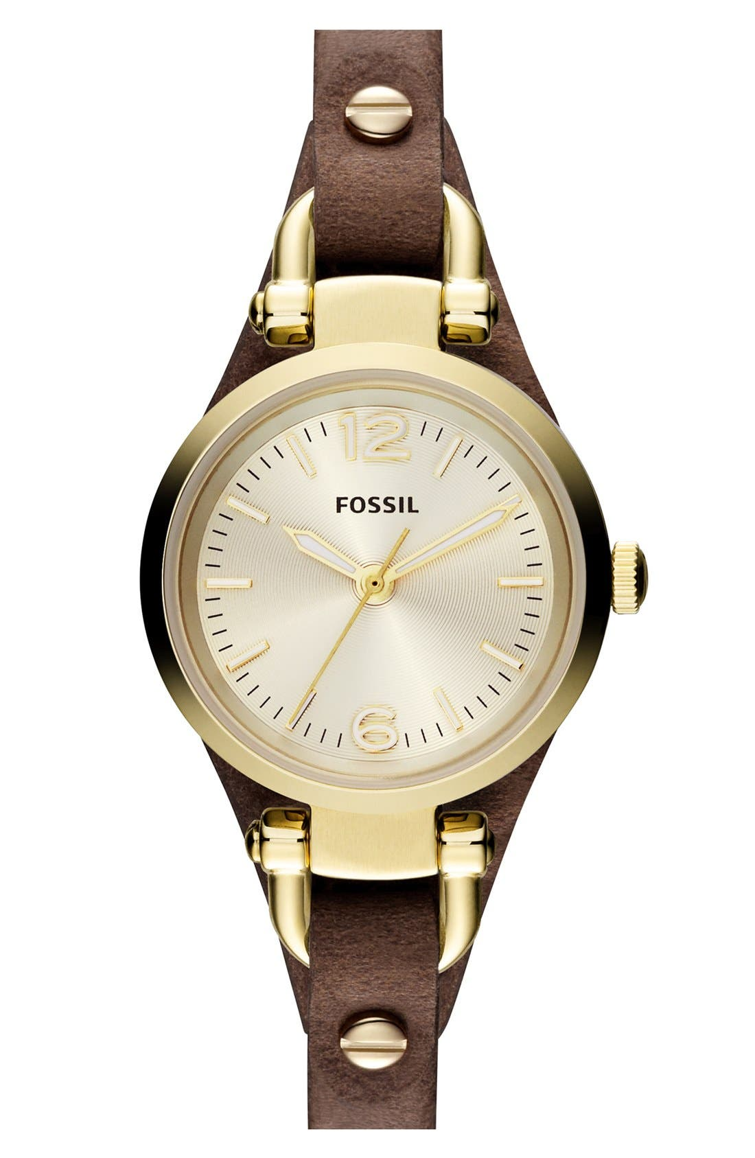 FOSSIL Small Georgia Leather Strap Watch, 26mm