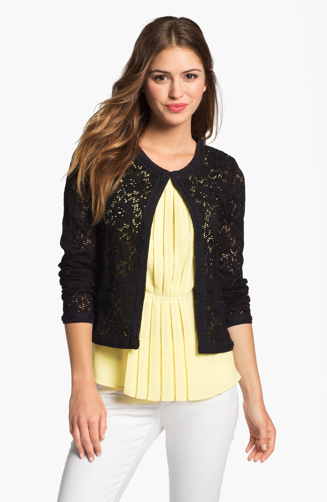 Alternate Image 1 Selected - Research & Design Lace Jacket (Online Only)