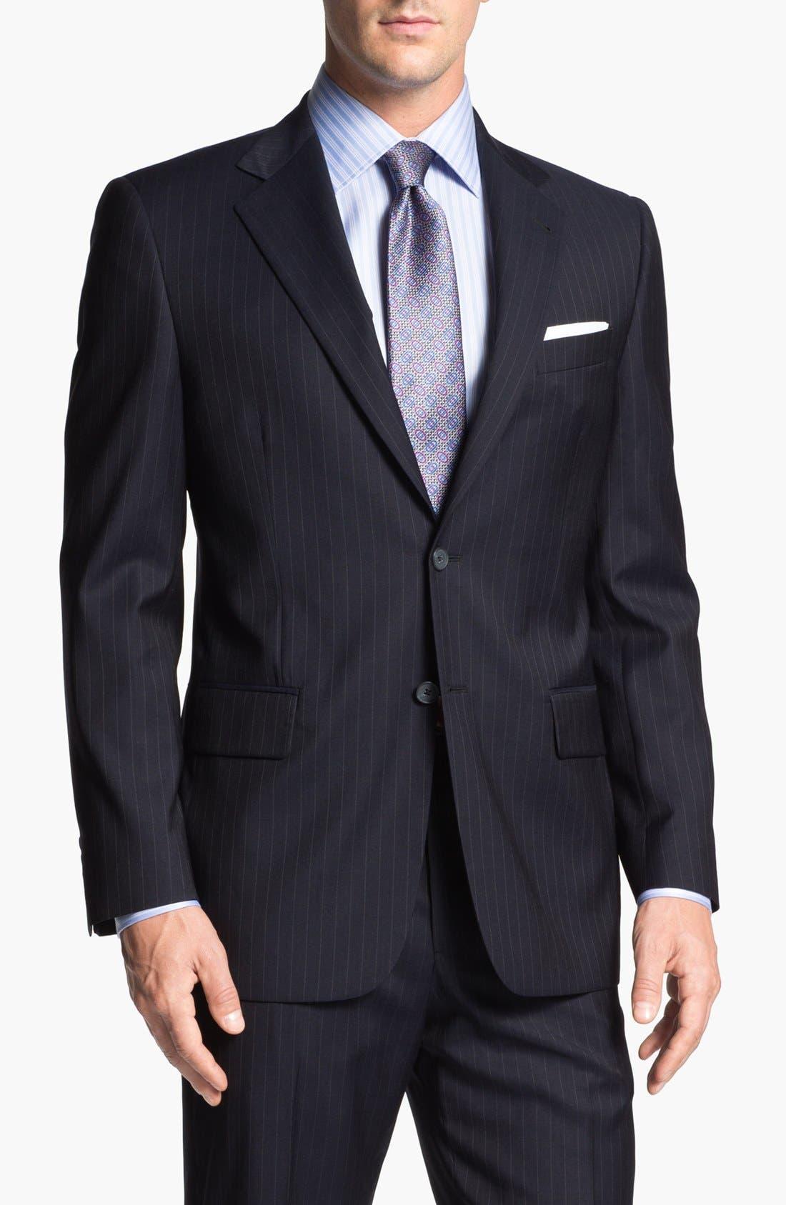 Alternate Image 4  - Joseph Abboud 'Signature Silver' Stripe Wool Suit