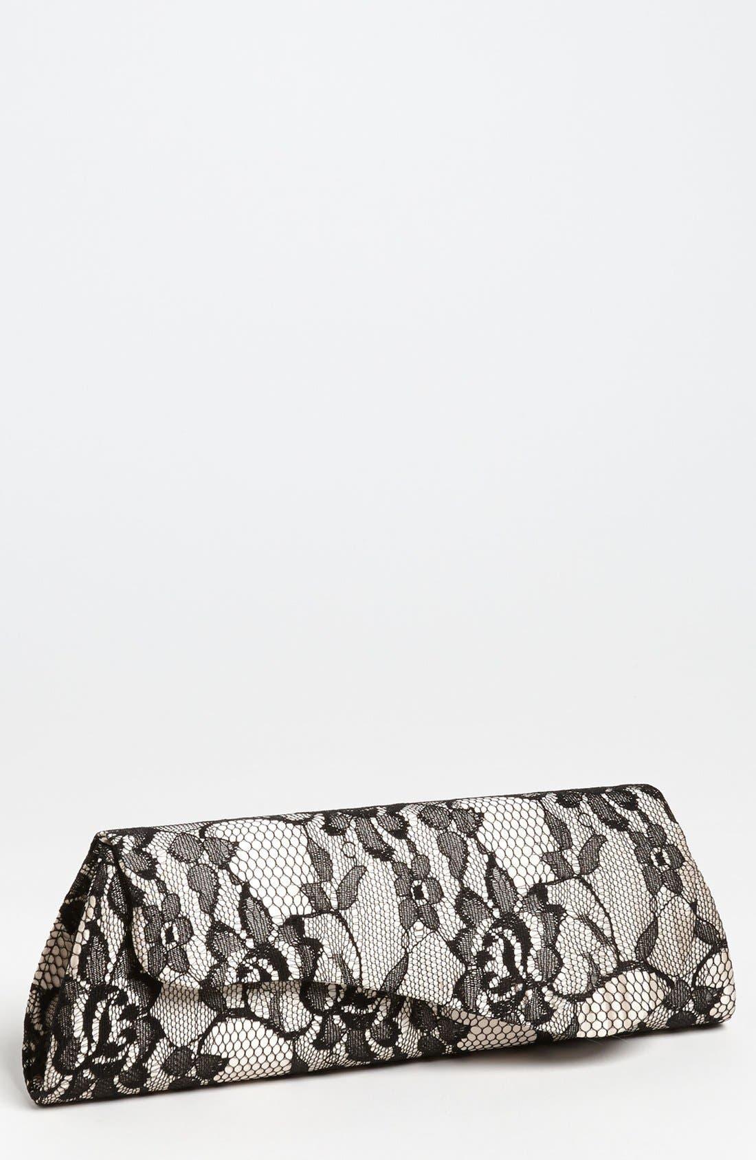 Main Image - Jessica McClintock Lace Envelope Clutch