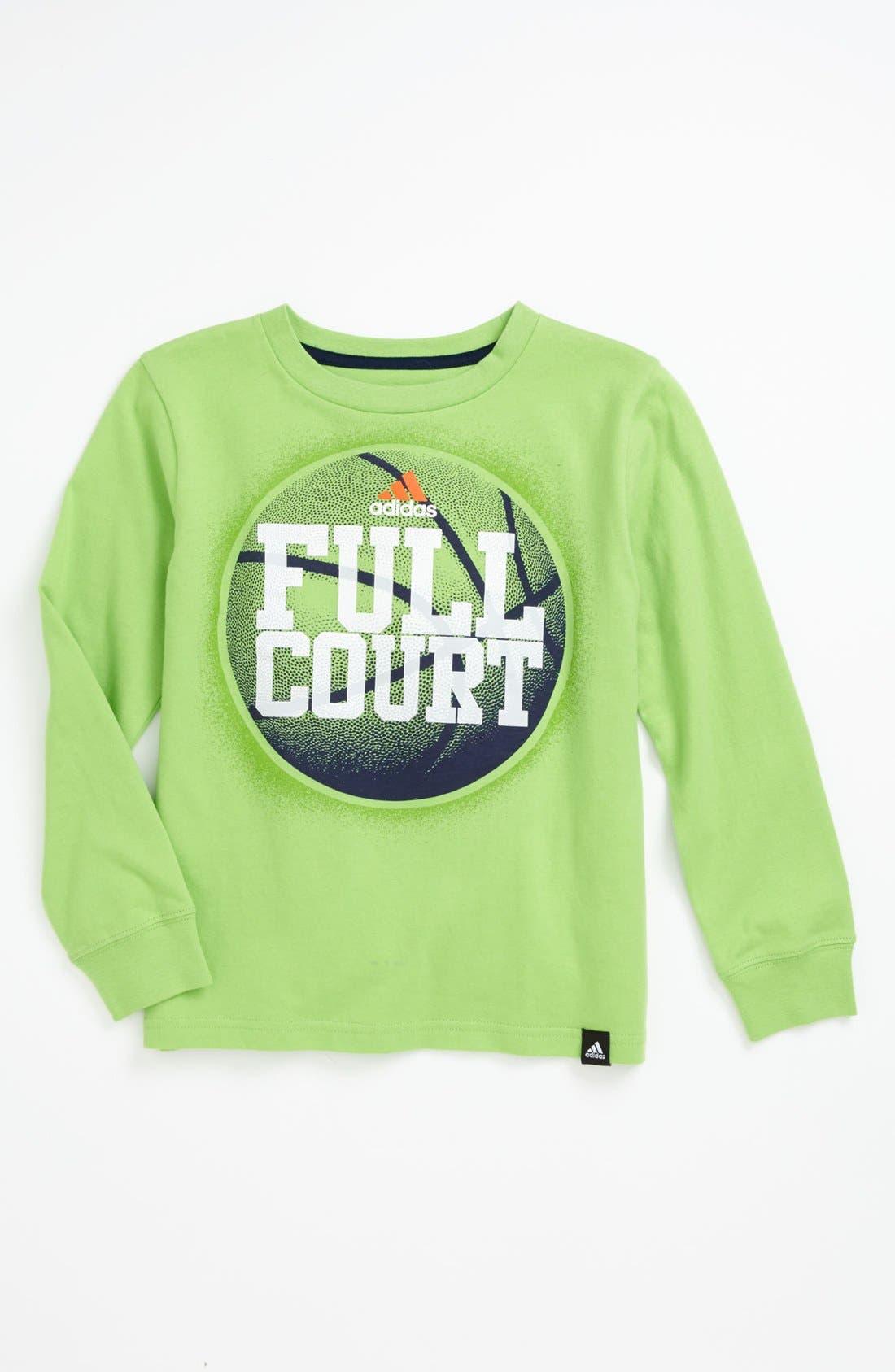 Alternate Image 1 Selected - adidas 'Full Court' Long Sleeve Tee (Little Boys)