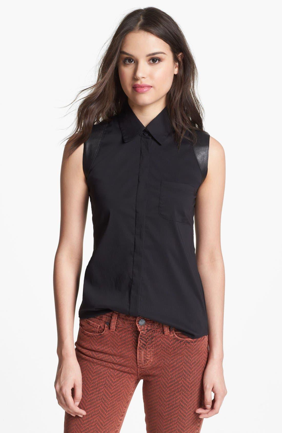 'Horsepower' Shirt,                             Main thumbnail 1, color,                             Black