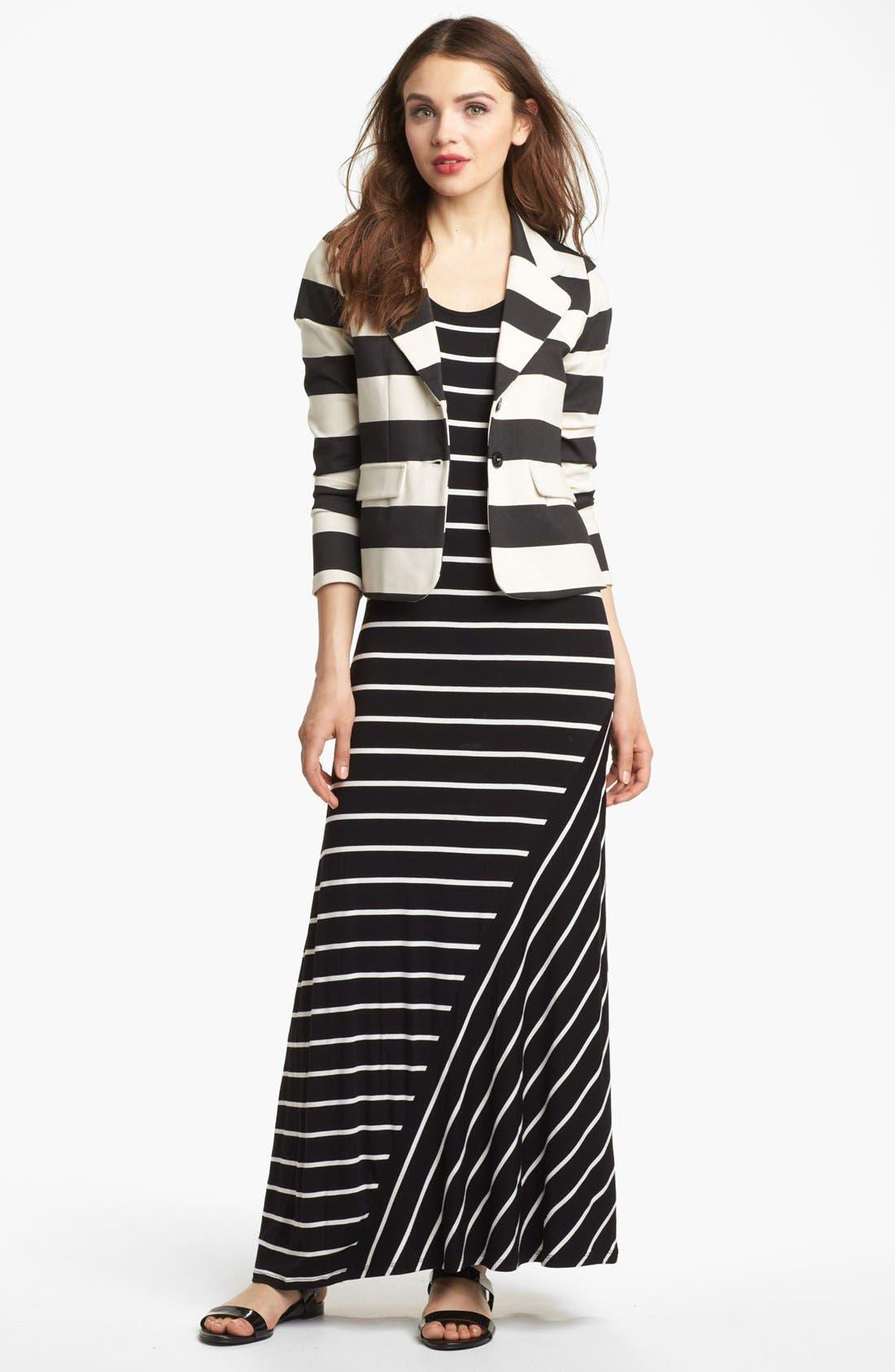 Alternate Image 1 Selected - Kensie Stripe Ponte Jacket