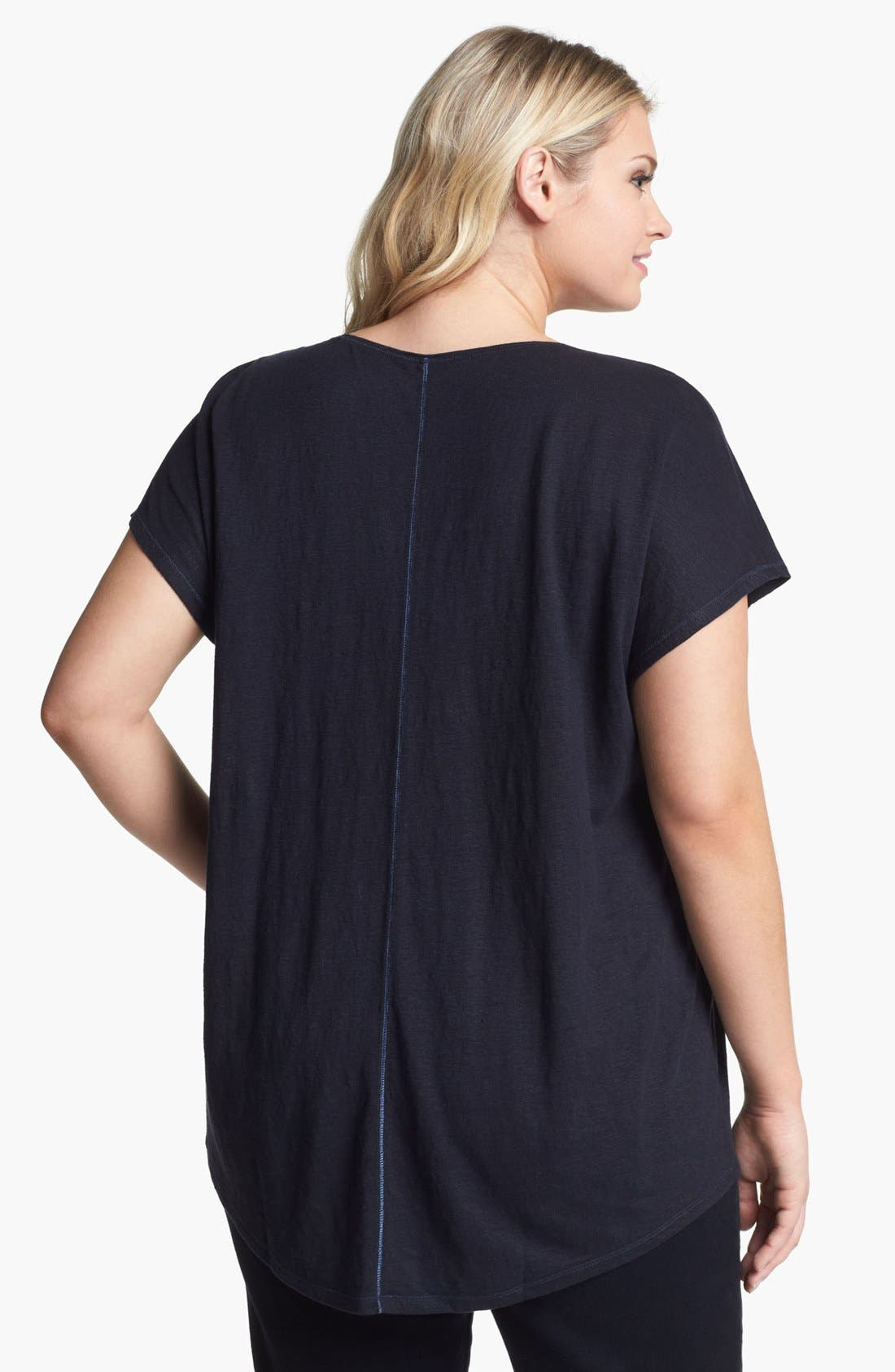 Alternate Image 2  - Eileen Fisher Scoop Neck Tee (Plus Size)