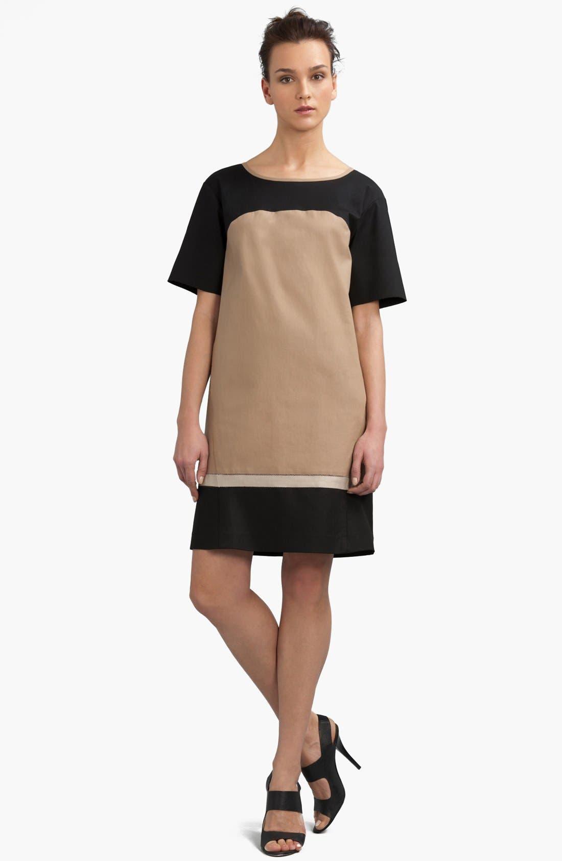 Main Image - Lafayette 148 New York 'Evita' Colorblock Shift Dress