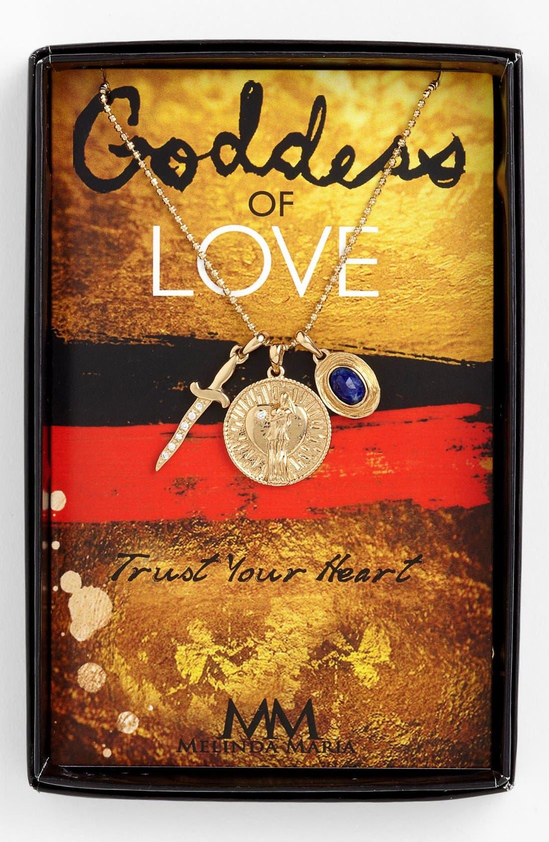 Alternate Image 1 Selected - Melinda Maria 'Goddess of Love' Cluster Pendant Necklace