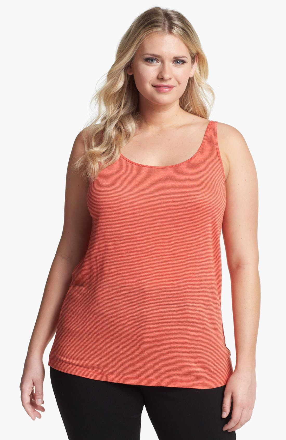 Alternate Image 1 Selected - Eileen Fisher Linen Tank (Plus Size)