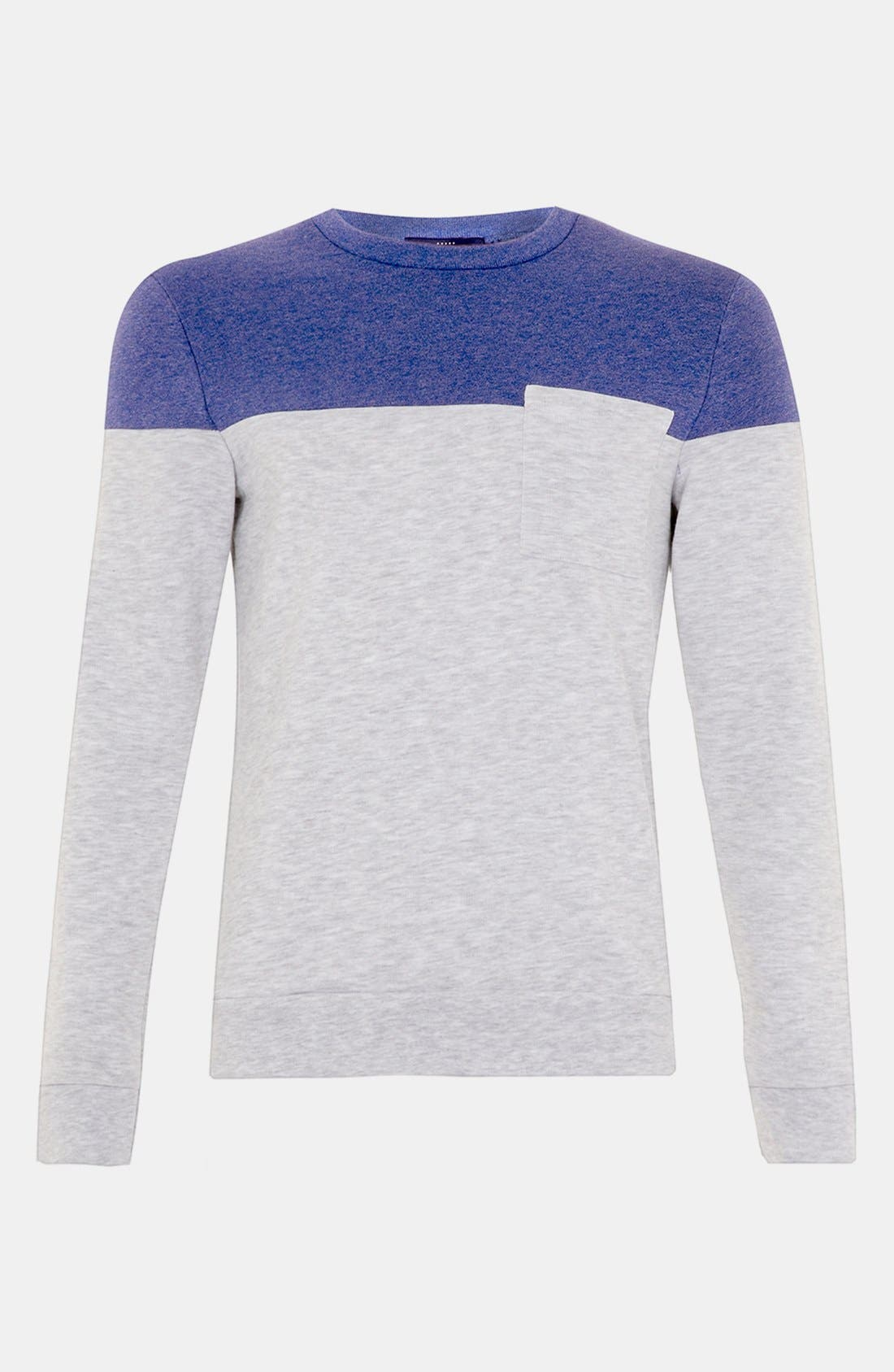 Alternate Image 1 Selected - Topman Cut & Sew Crewneck Sweatshirt