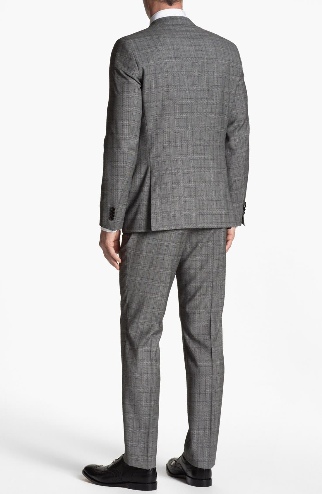 Alternate Image 3  - BOSS HUGO BOSS 'Huge/Genius' Extra Trim Fit Plaid Suit