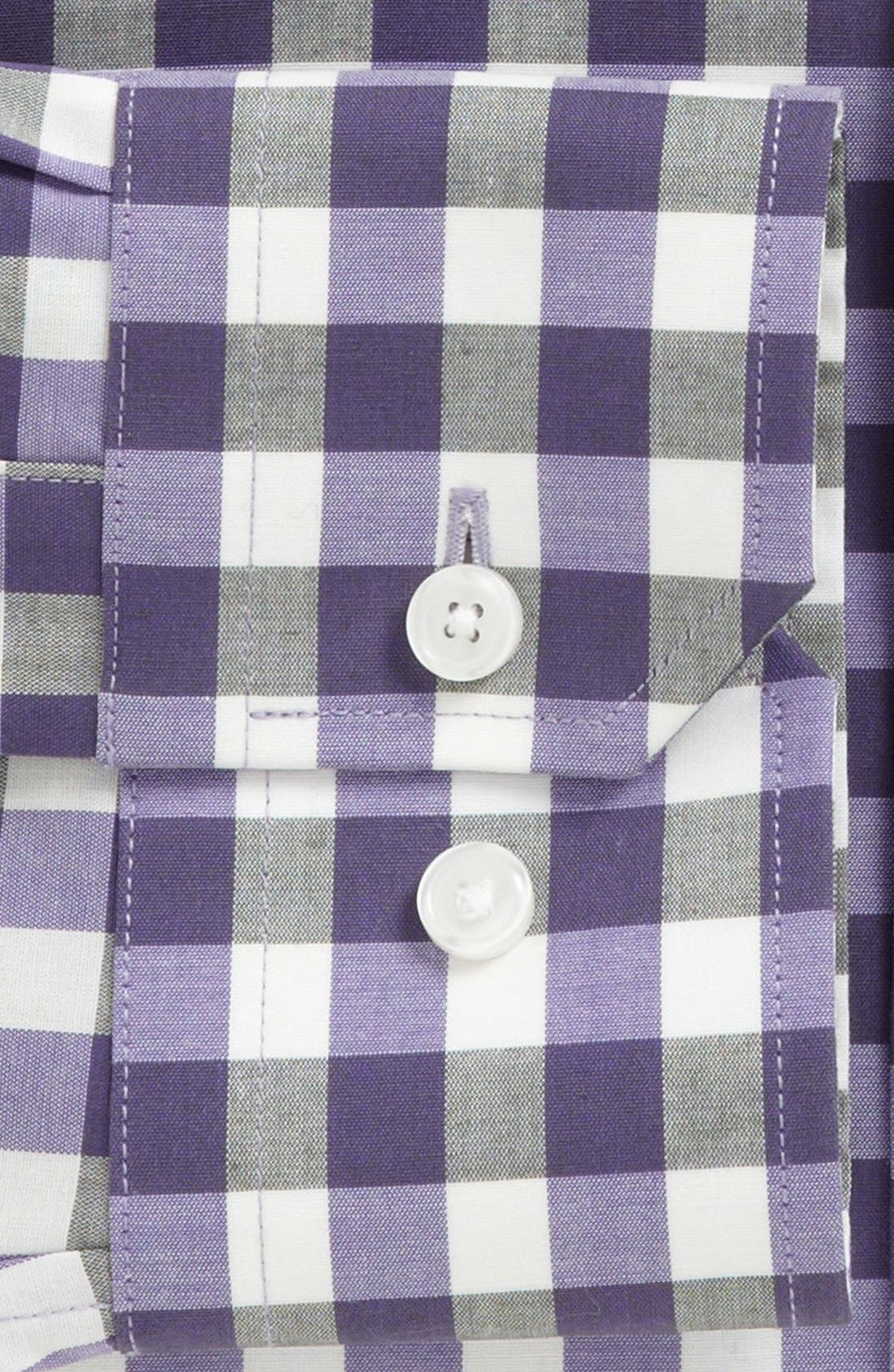 Alternate Image 2  - Calibrate Trim Fit Non-Iron Gingham Dress Shirt