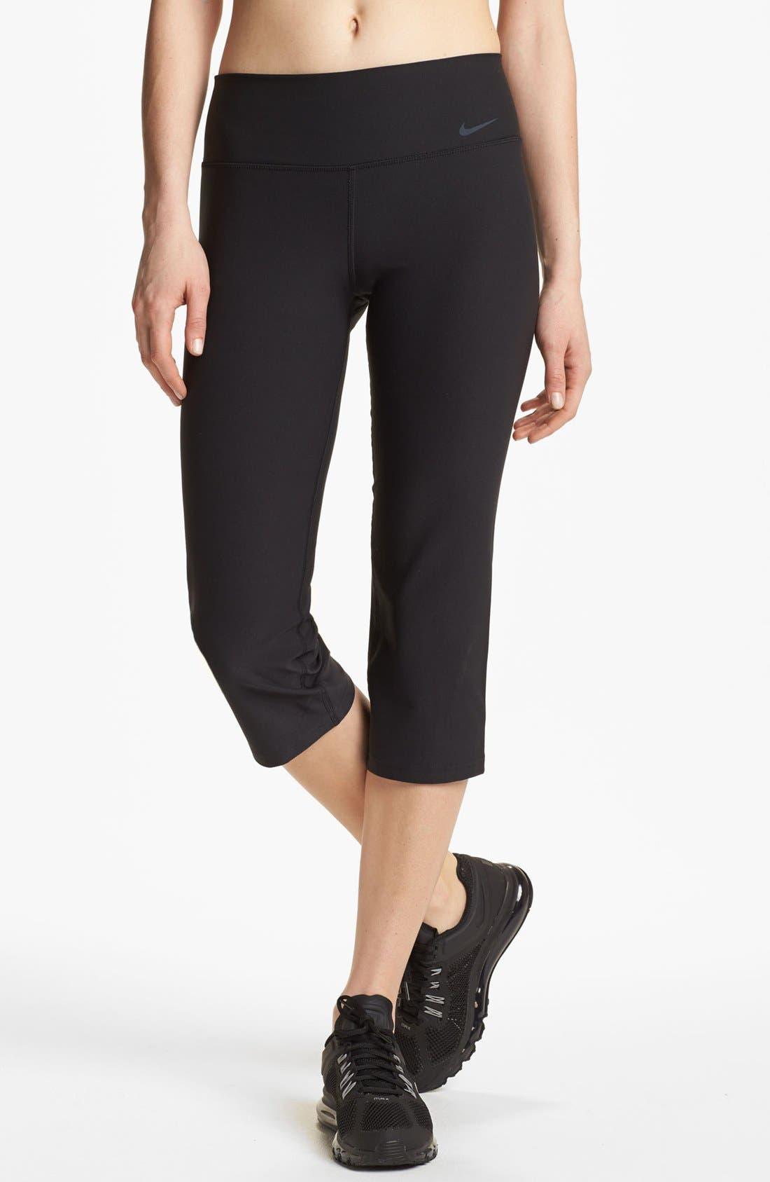 Alternate Image 1 Selected - Nike 'Legend 2.0 Slim Poly' Capri Pants