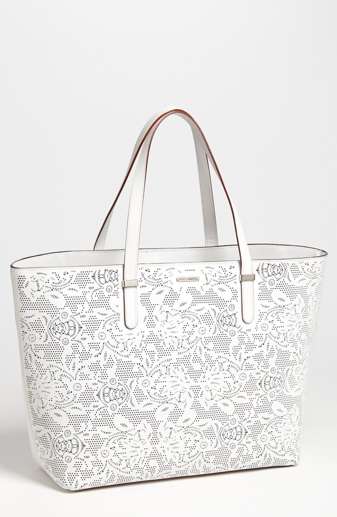 Alternate Image 1 Selected - Rebecca Minkoff 'Lasercut Perfection' Leather Tote
