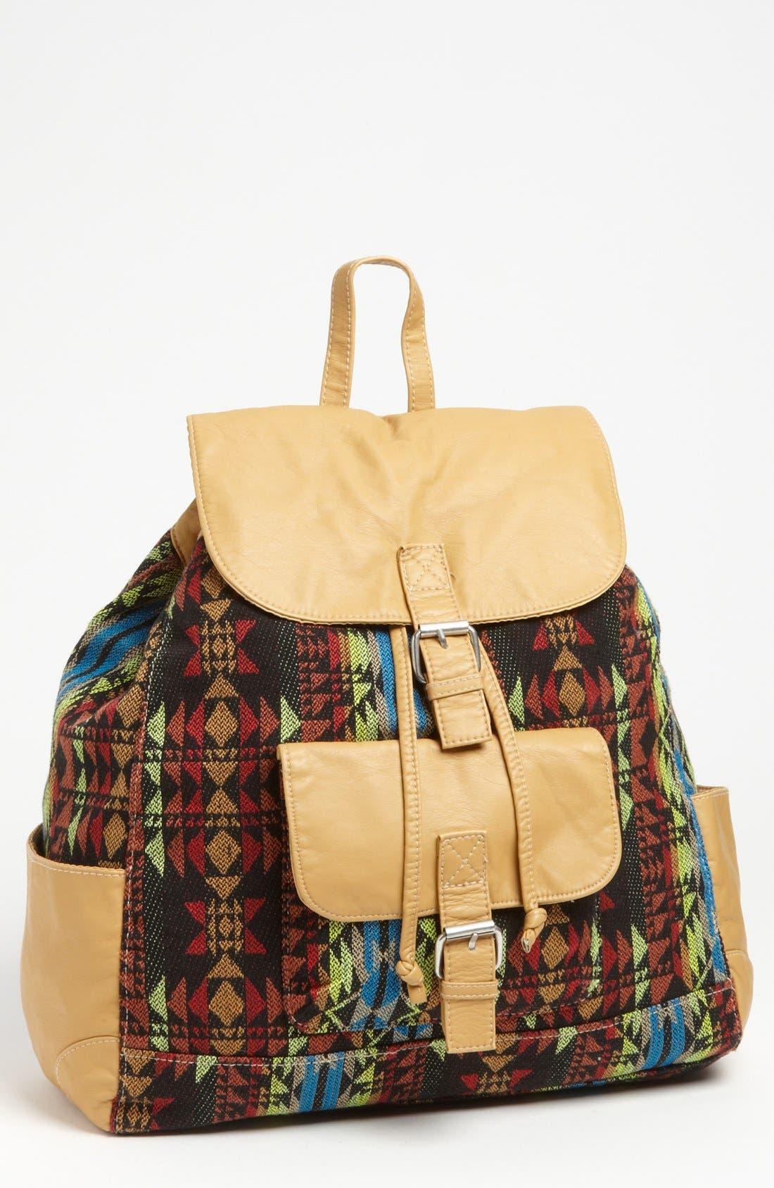 Main Image - T-shirt & Jeans Print Backpack