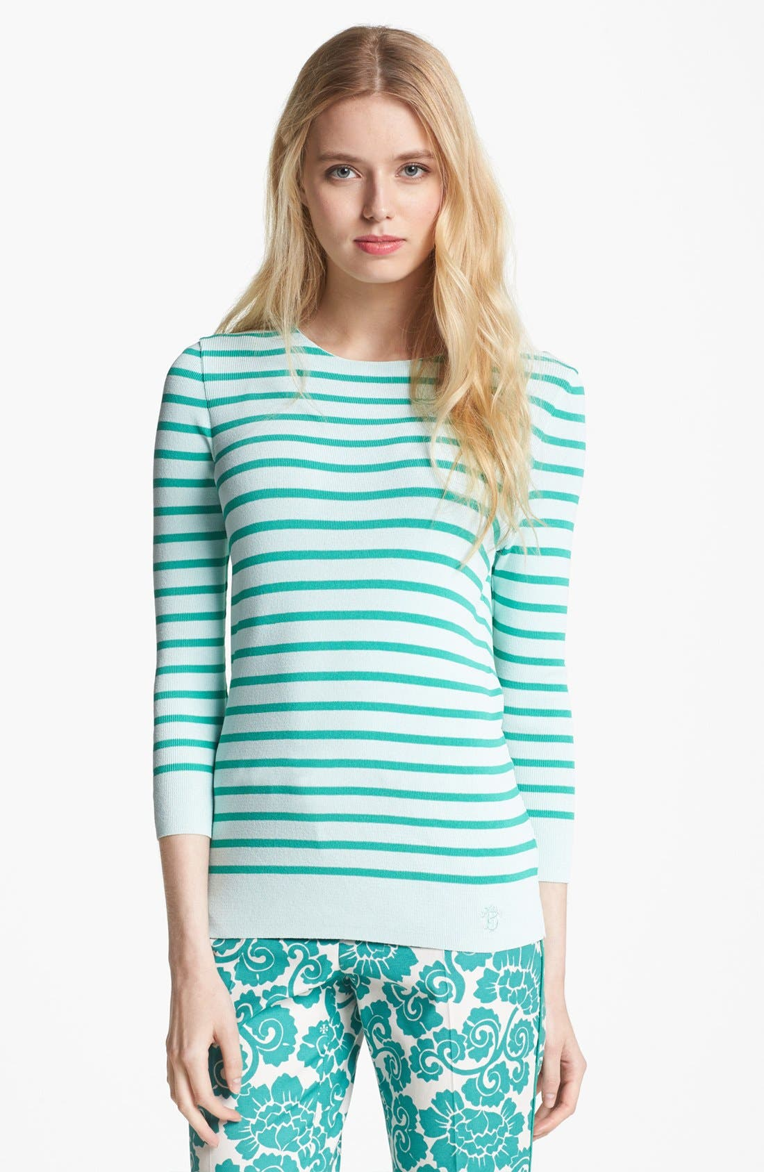 Alternate Image 1 Selected - Tory Burch 'Poling' Stripe Sweater