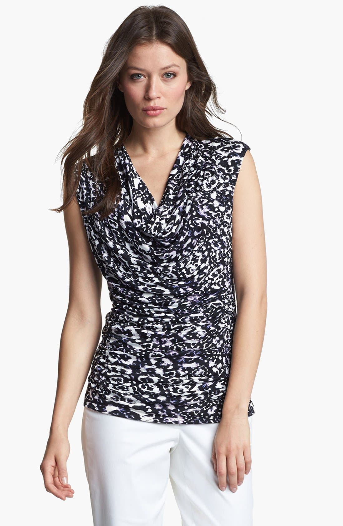 Alternate Image 1 Selected - Classiques Entier® Drape Neck Sleeveless Jersey Top