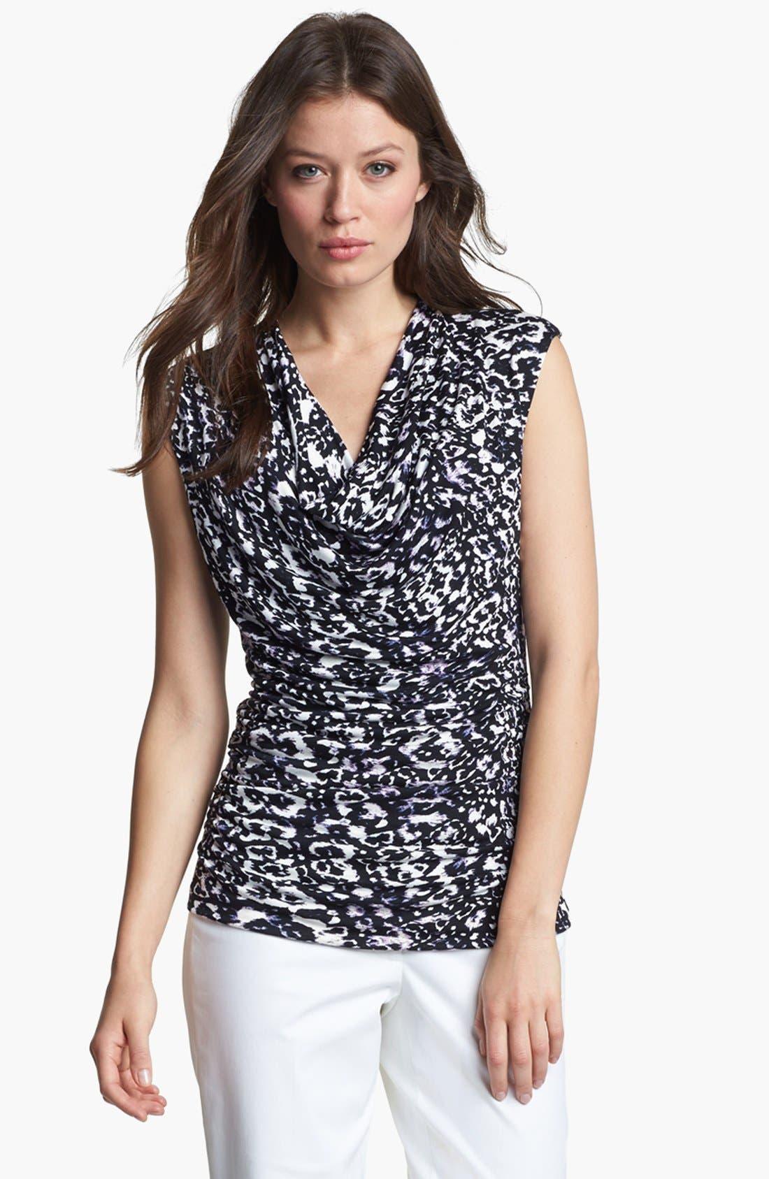 Main Image - Classiques Entier® Drape Neck Sleeveless Jersey Top