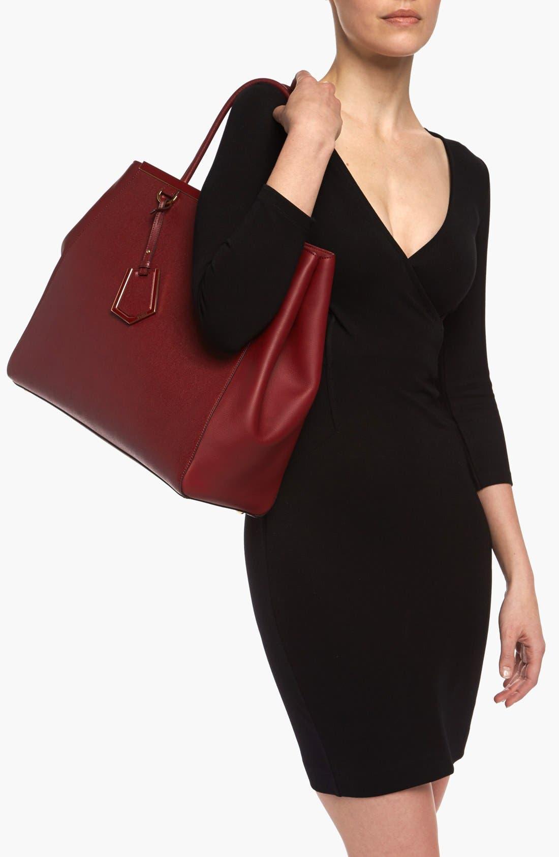 Alternate Image 2  - Fendi '2Jours Elite - Large' Leather Shopper