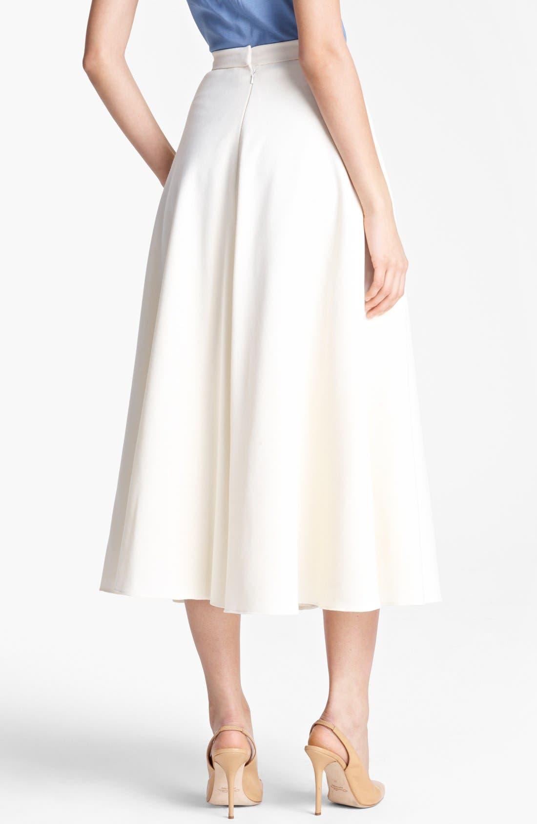 Alternate Image 4  - Oscar de la Renta Pleated Jacquard Skirt