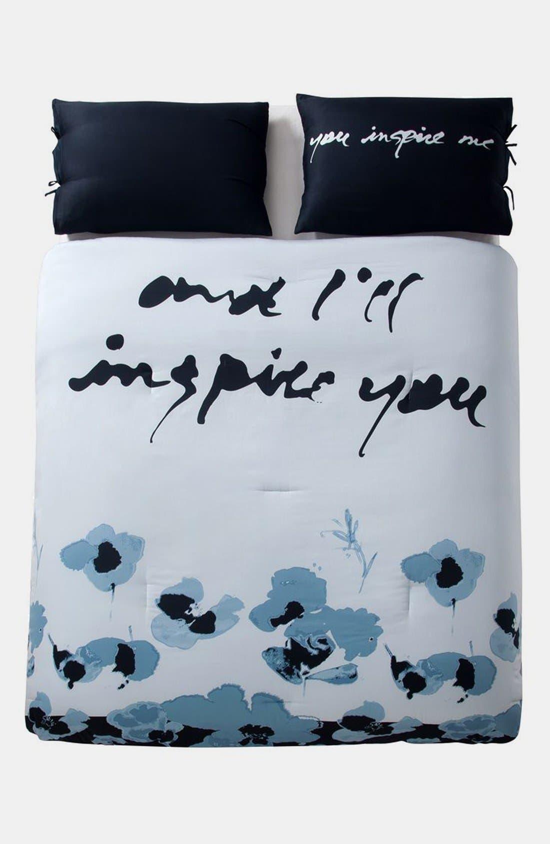 Main Image - kensie 'Blue Poppy' Duvet Set (Online Only)