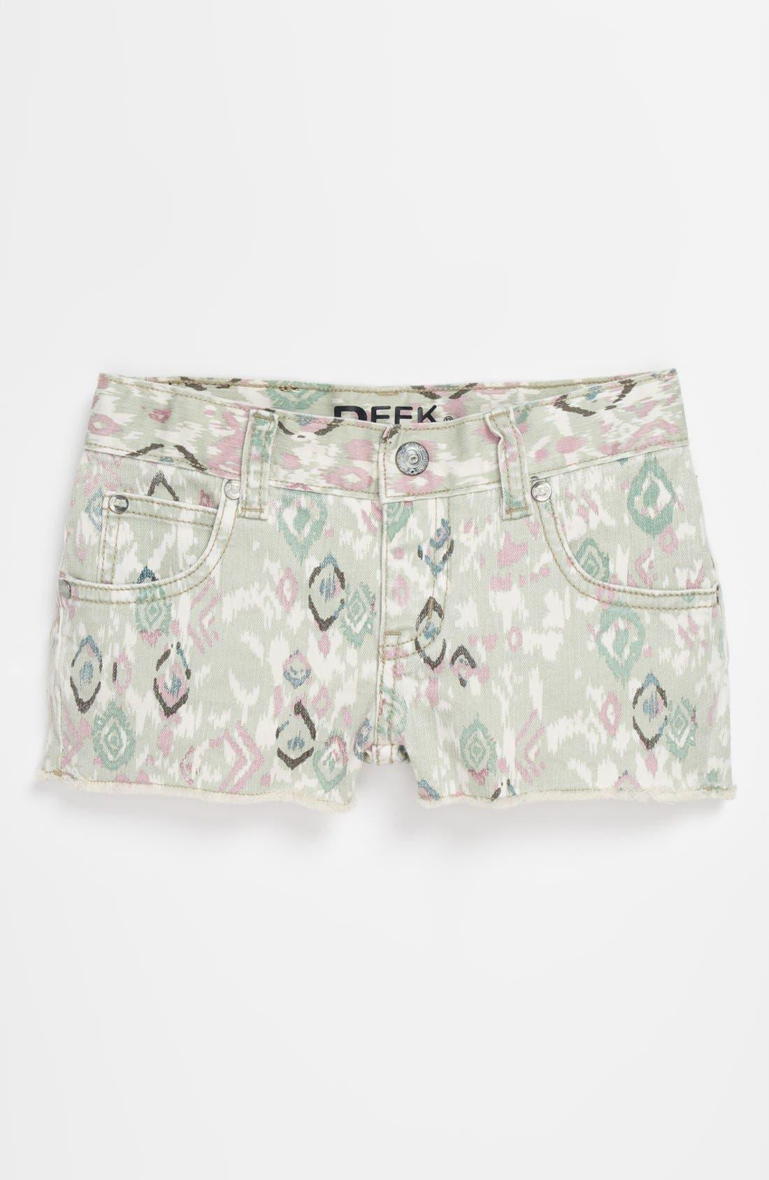 Alternate Image 2  - Peek 'New Morgan' Denim Shorts (Big Girls)