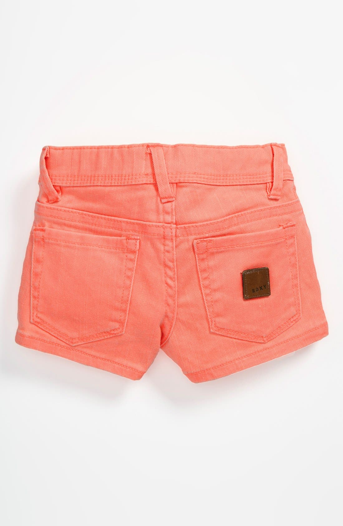 Main Image - Roxy 'Ferris Wheel' Denim Shorts (Little Girls)