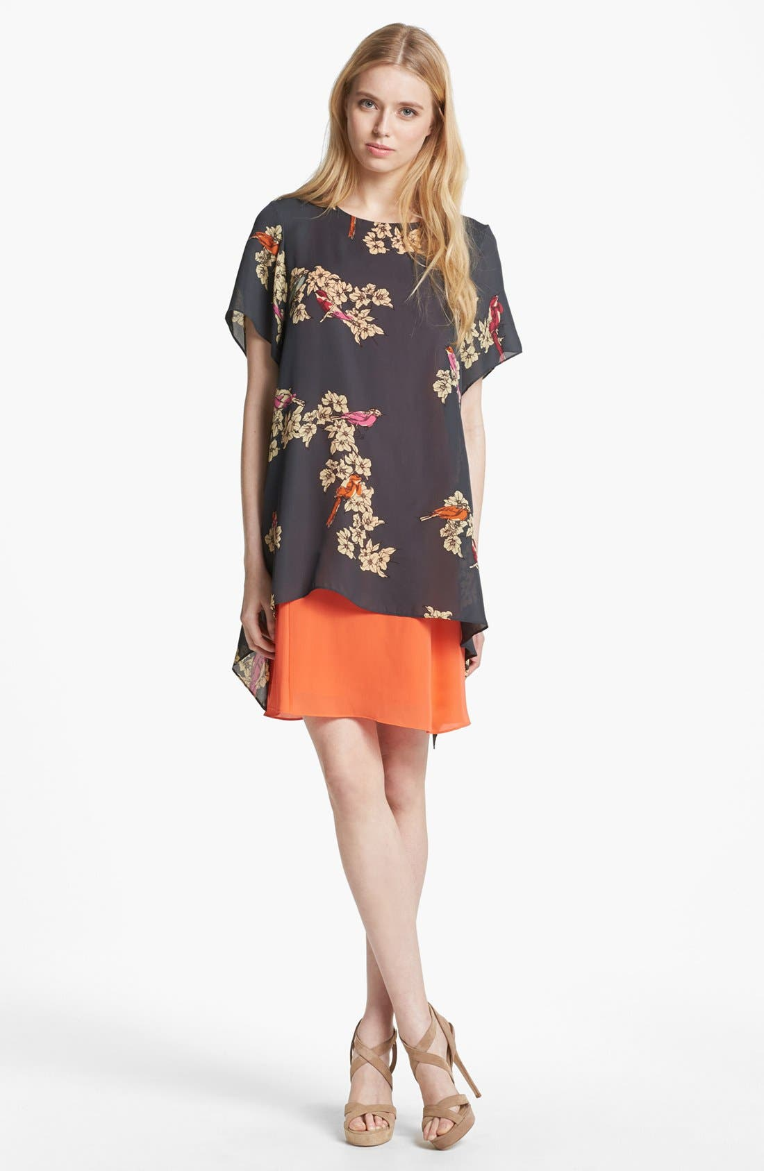 Alternate Image 1 Selected - Rachel Roy Layered Silk Shift Dress