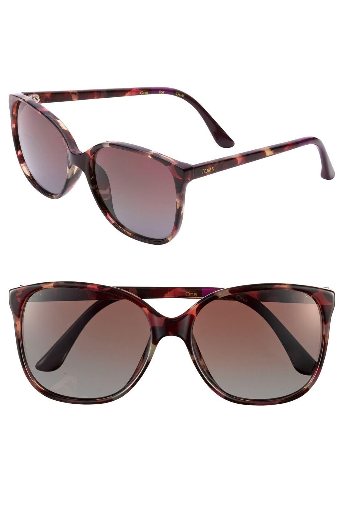 Main Image - TOMS 'Sandella - Classic 202' 57mm Sunglasses