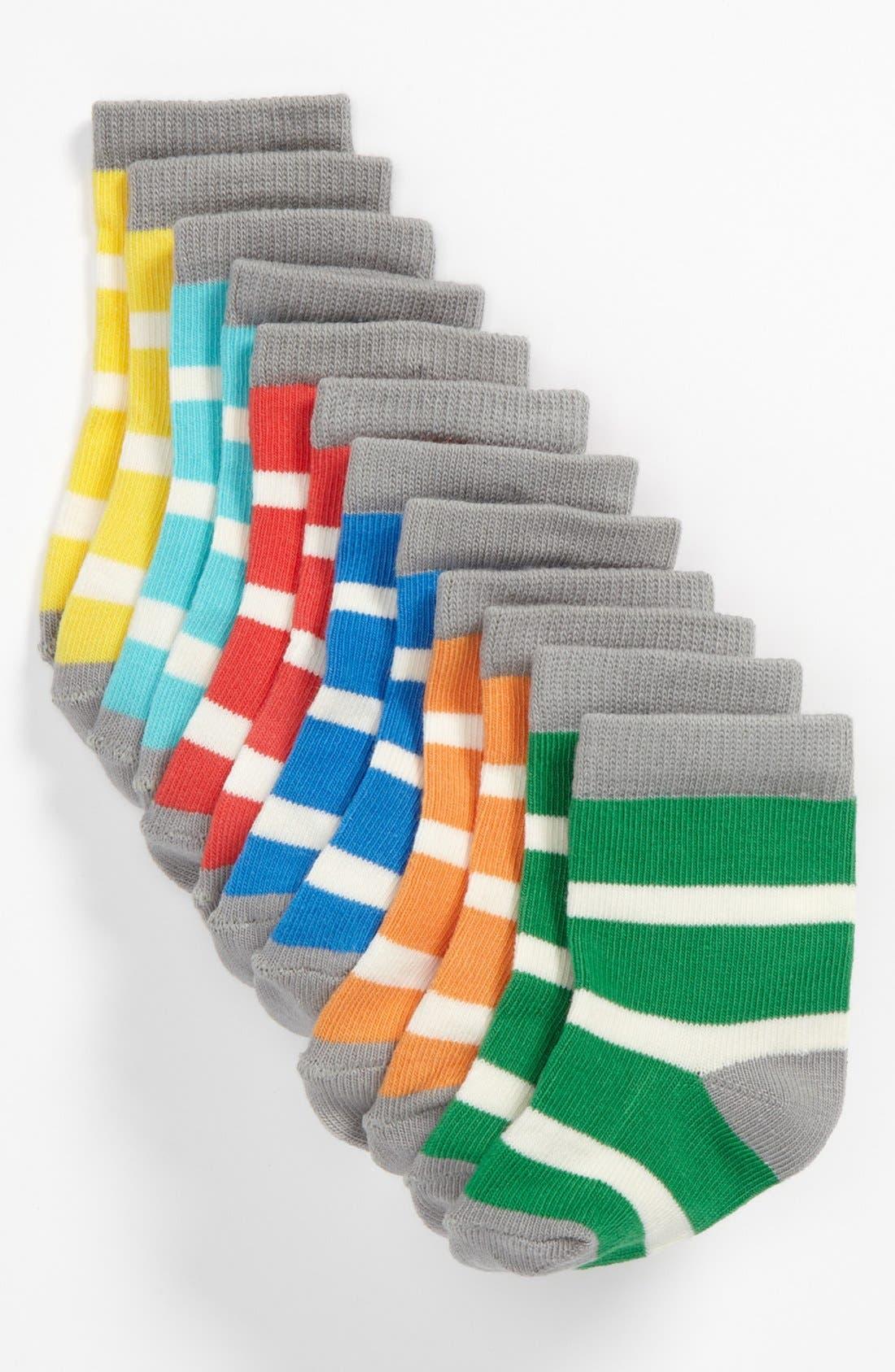 Alternate Image 1 Selected - Stem Baby Stripe Socks (6-Pack) (Baby)