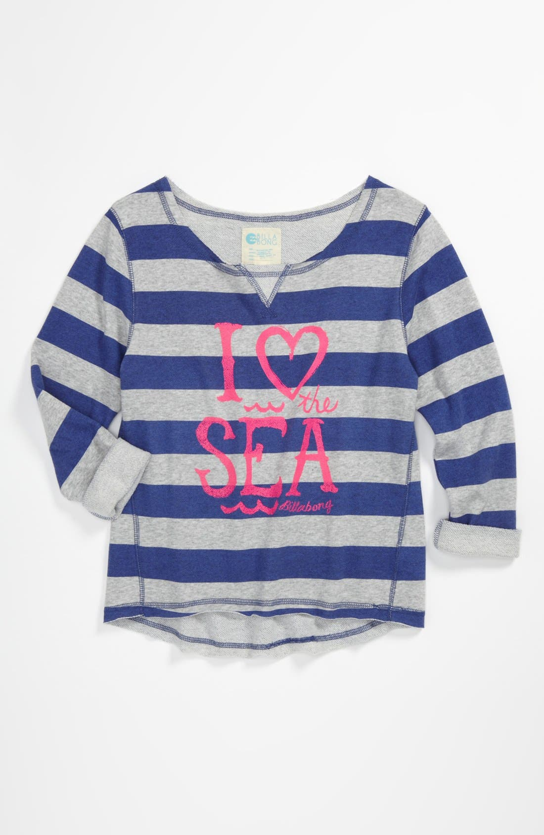 Alternate Image 1 Selected - Billabong 'Breaking It Down' Sweatshirt (Big Girls)