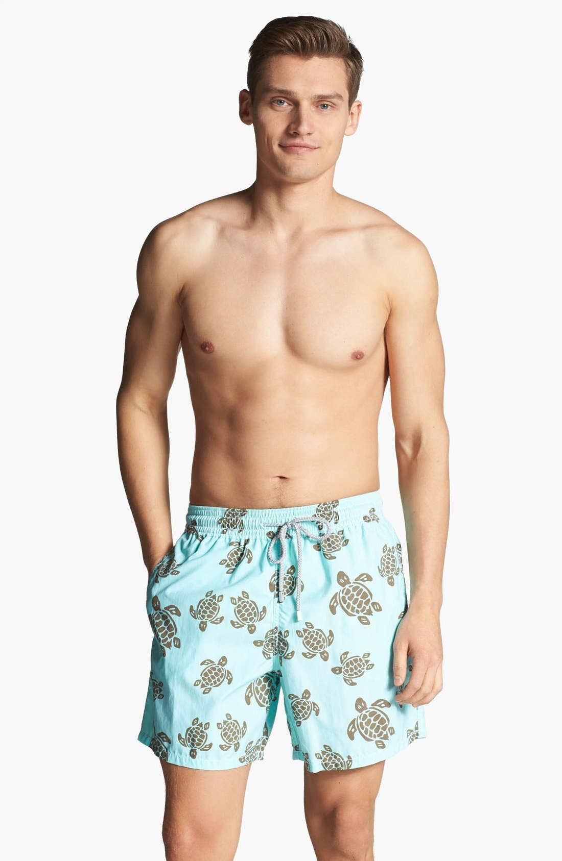 Main Image - Vilebrequin 'Moorea' Turtle Print Swim Trunks