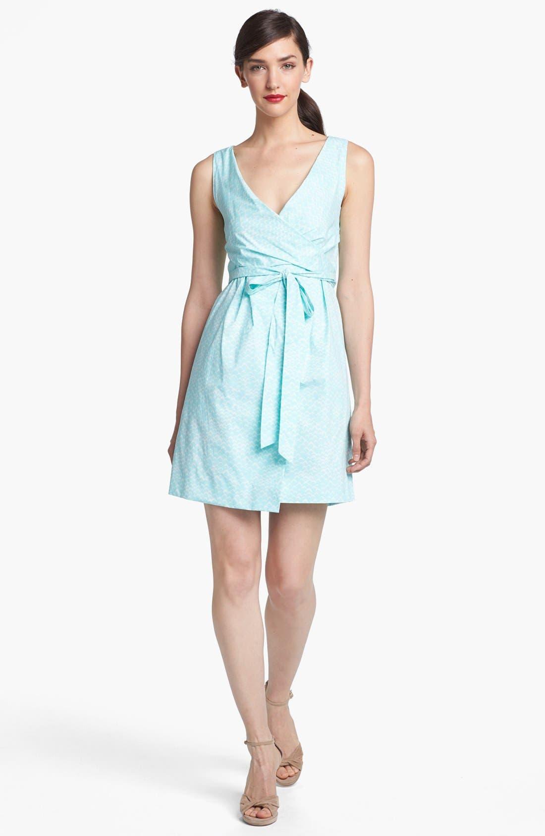 Alternate Image 1 Selected - Diane von Furstenberg 'Carol' Cotton Wrap Minidress