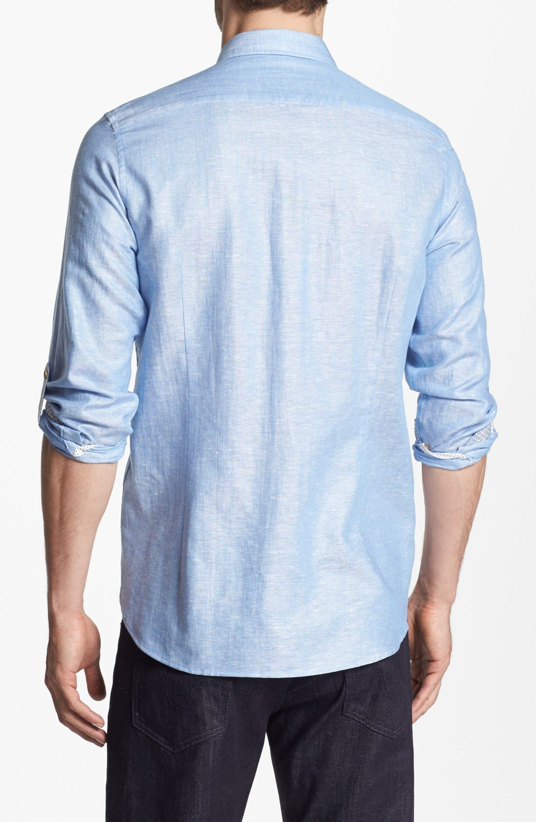 Alternate Image 2  - Ted Baker London Linen Blend Sport Shirt