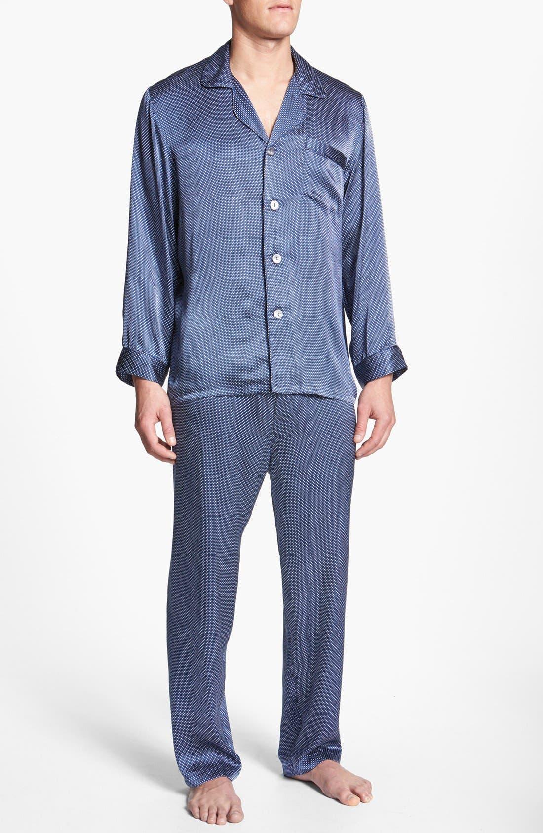 Alternate Image 1 Selected - Majestic International 'Cypress' Silk Pajamas