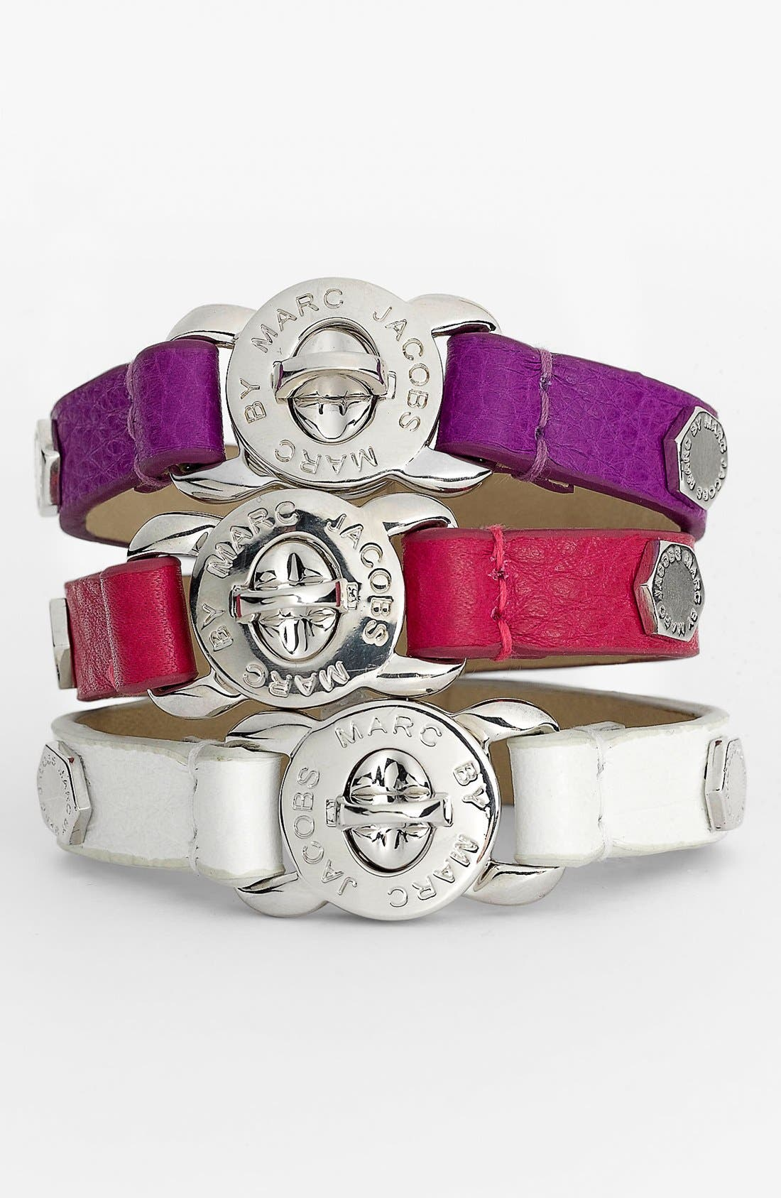 Alternate Image 1 Selected - MARC BY MARC JACOBS 'Turnlock - Bolts' Leather Bracelet