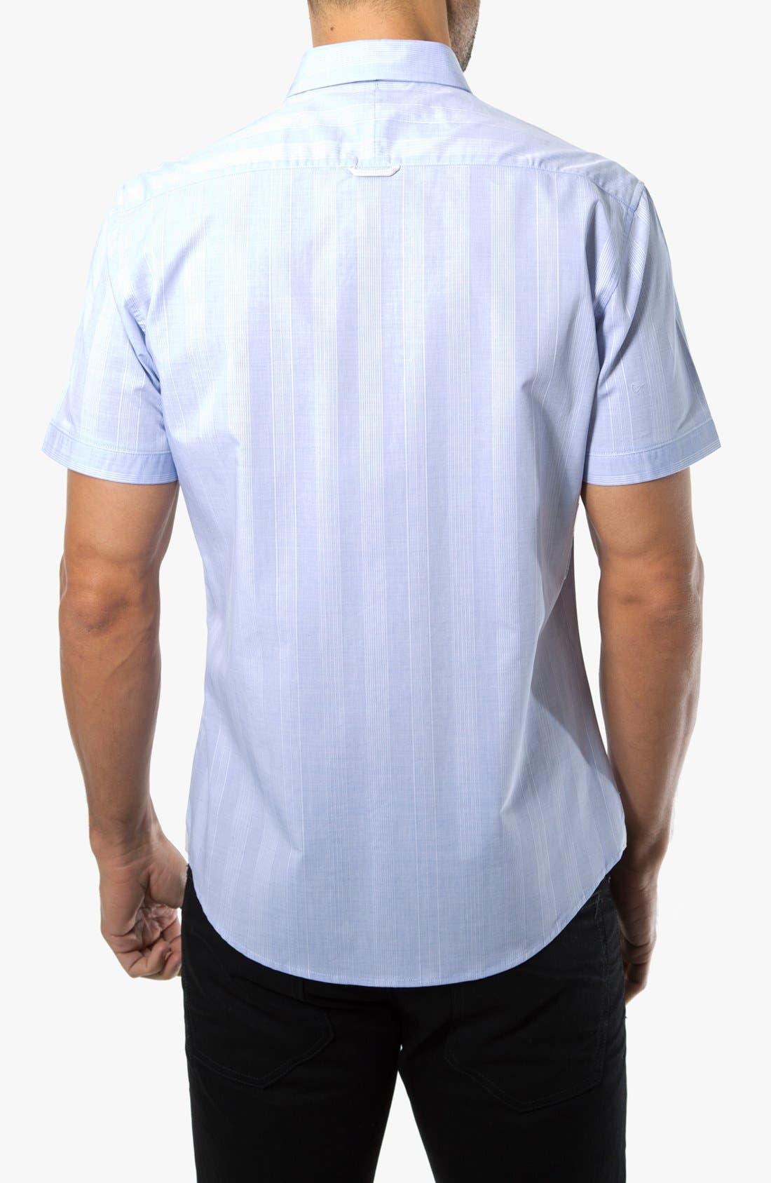Alternate Image 2  - 7 Diamonds 'Hilltop Party' Striped Woven Short Sleeve Shirt
