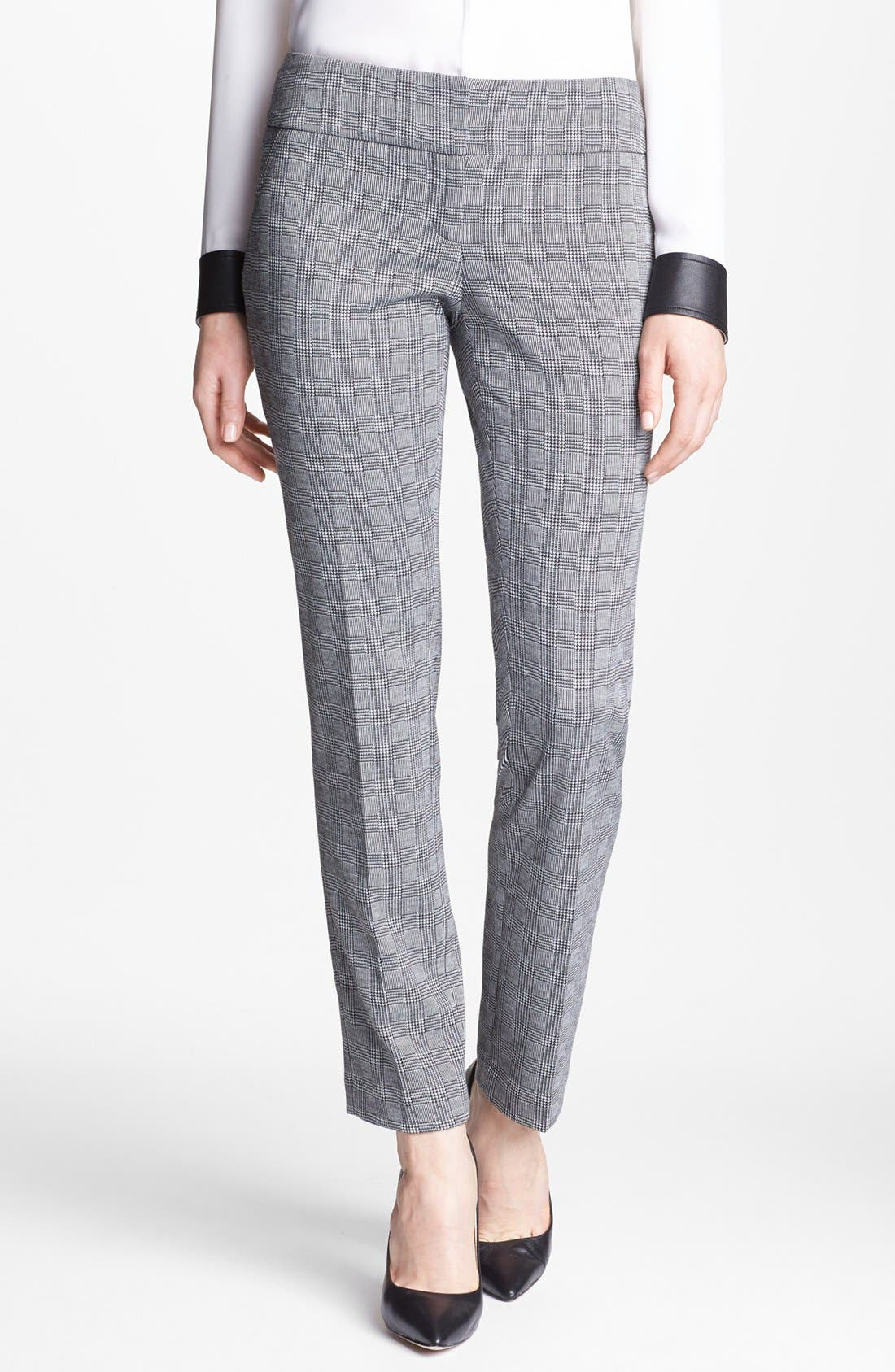 Alternate Image 1 Selected - Vince Camuto Glen Plaid Pants (Nordstrom Exclusive)