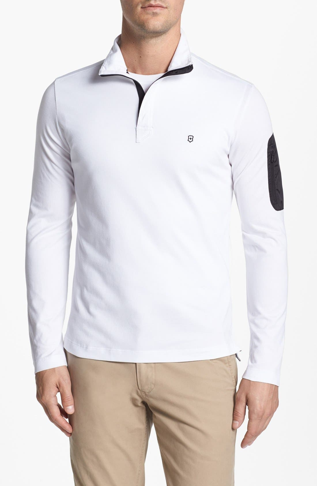Alternate Image 1 Selected - Victorinox Swiss Army® Half Zip Piqué Polo (Online Only)