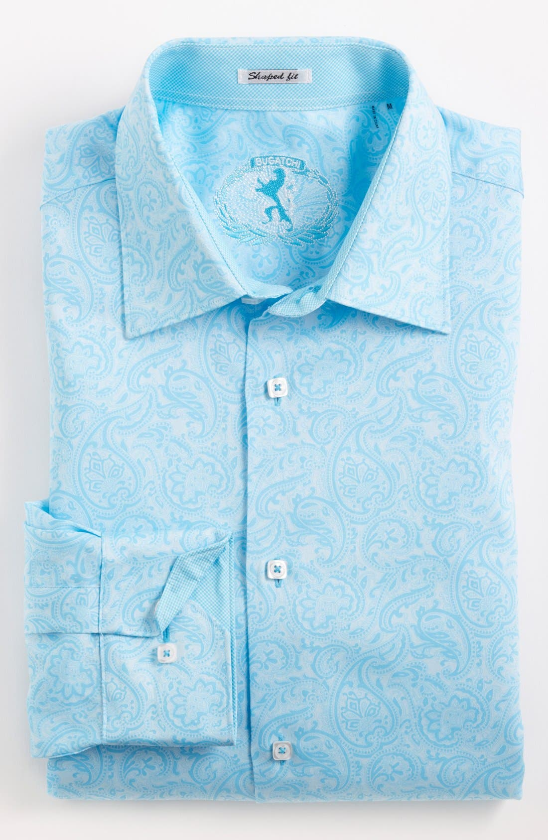 Alternate Image 2  - Bugatchi Paisley Shaped Fit Cotton Sport Shirt