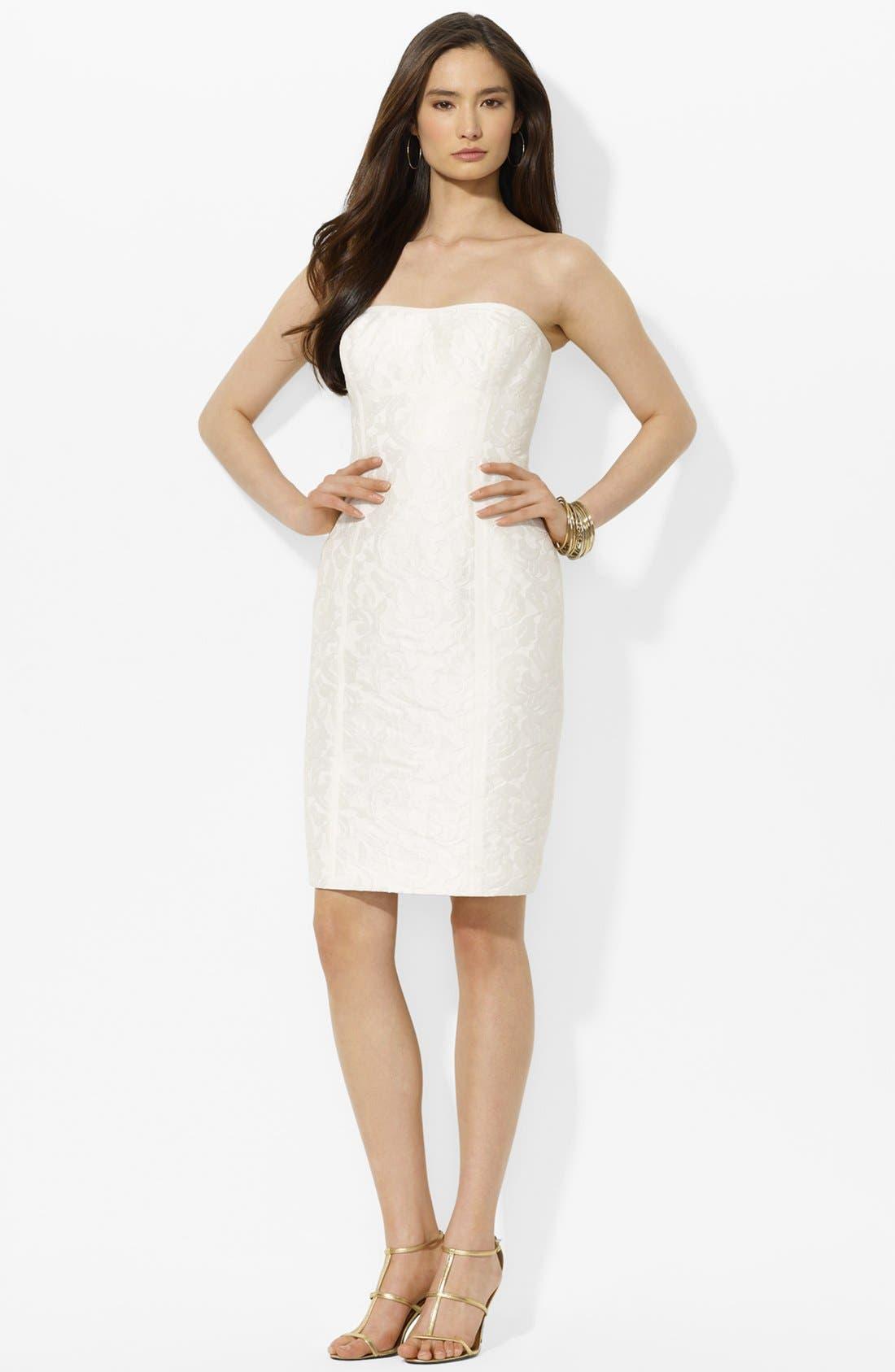 Main Image - Lauren Ralph Lauren Jacquard Lace Sheath Dress