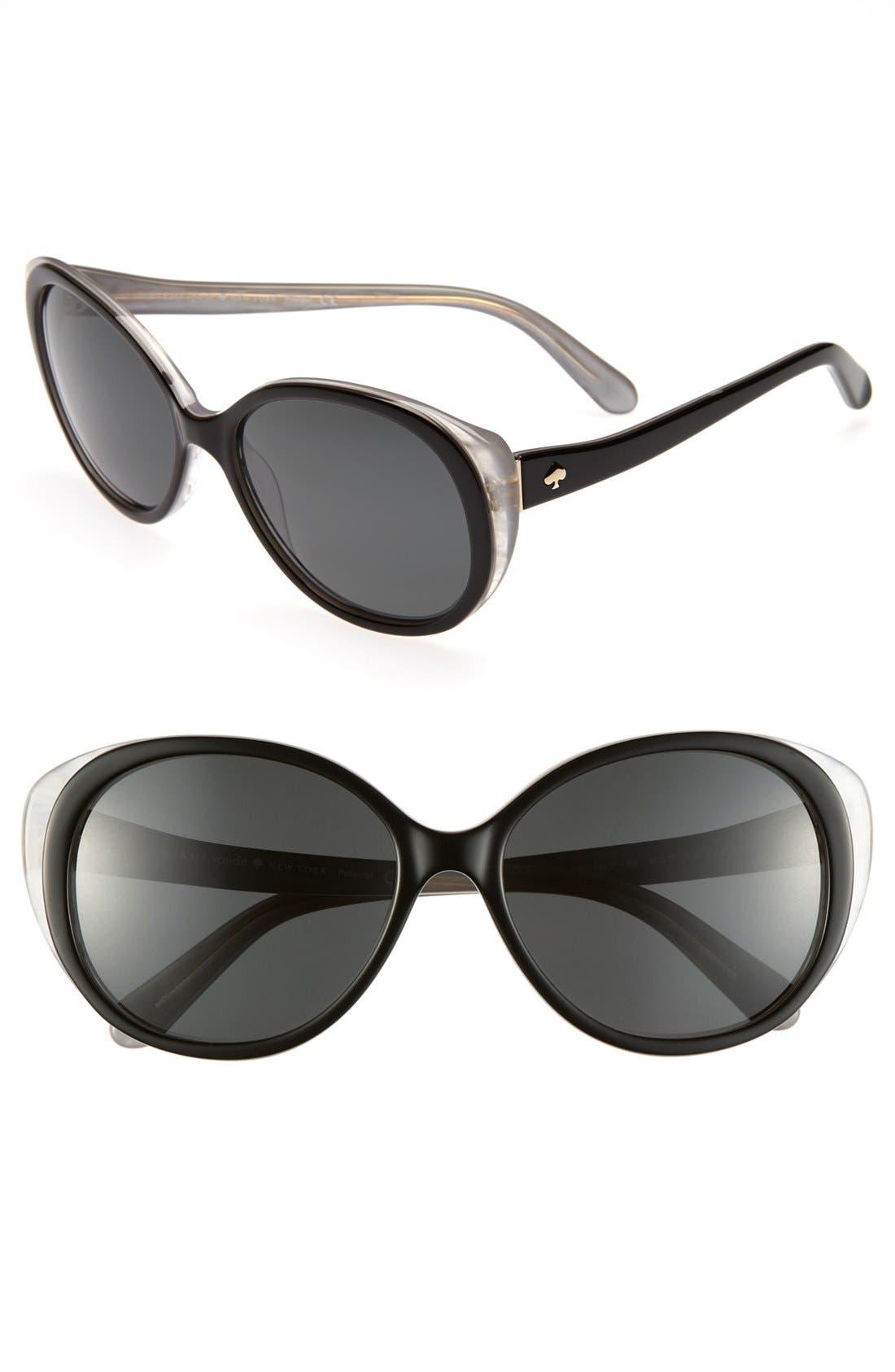 Alternate Image 1 Selected - kate spade new york 'finola' 56mm polarized sunglasses